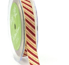 Gold Candy Cane Ribbon