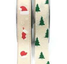 Christmas Linen Ribbons