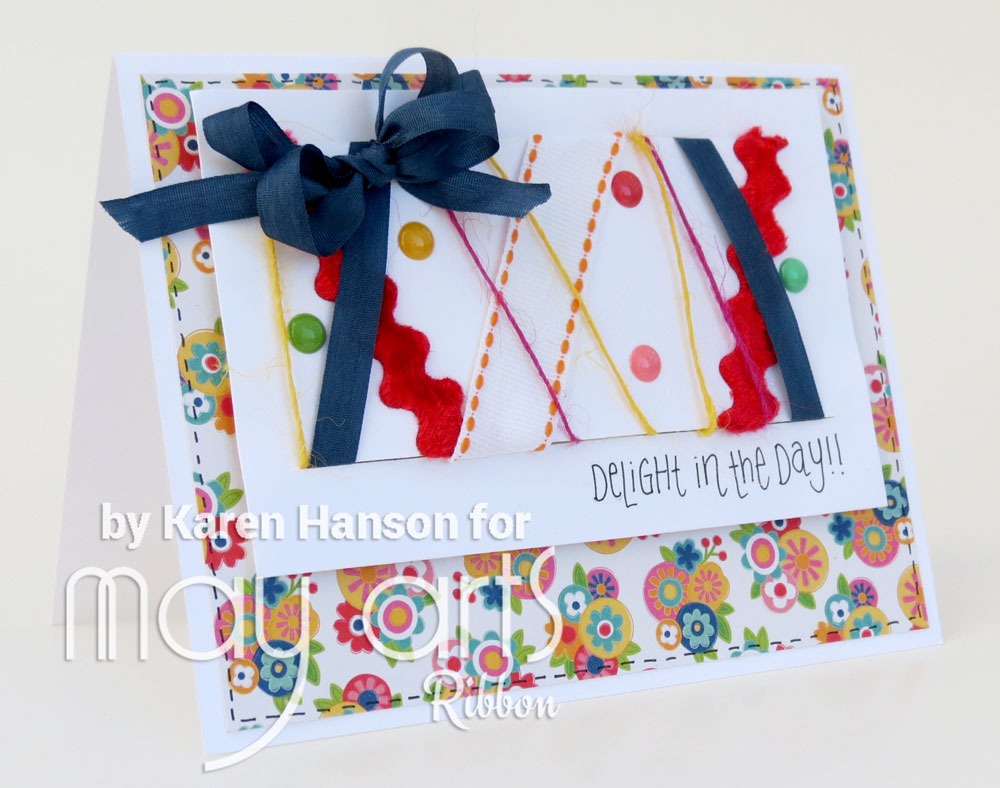 Using Ribbon Scraps on Cards