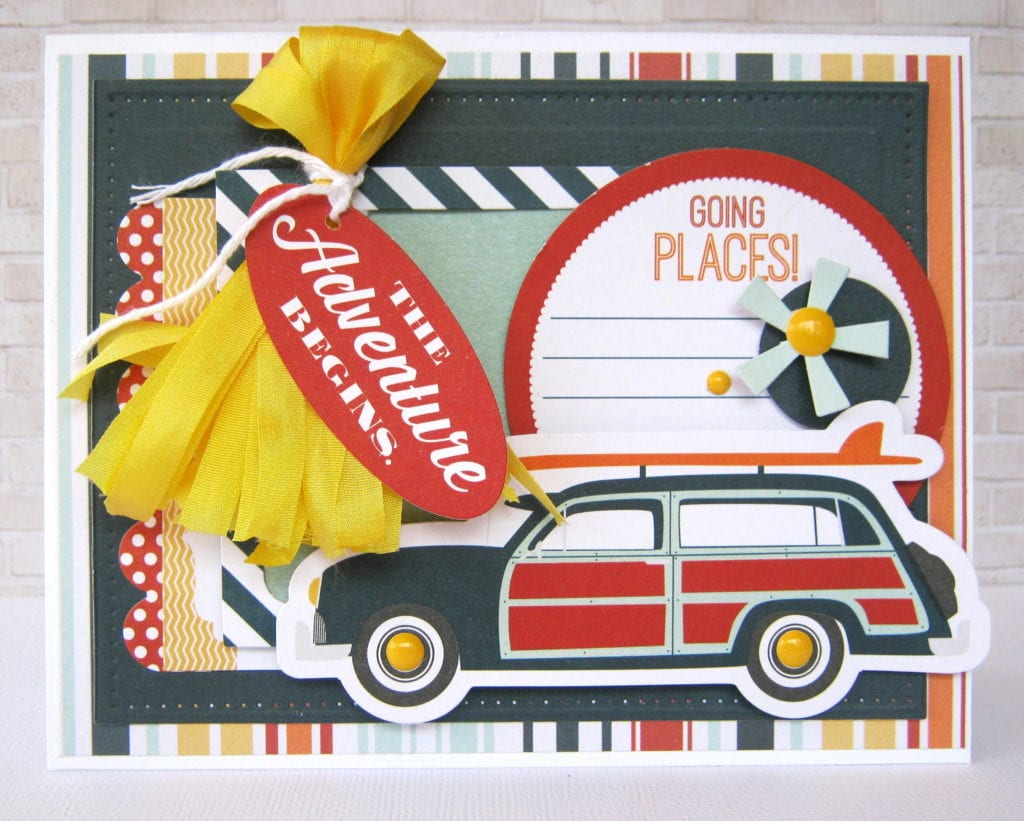 Summer Themed Card with Ribbon Tassel