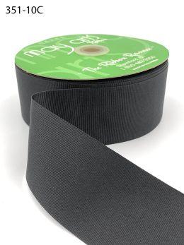 black wide grosgrain ribbon