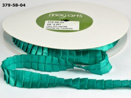 Teal Pleated Satin Ribbon
