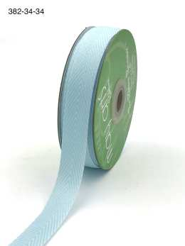 light blue and white chevron twill ribbon