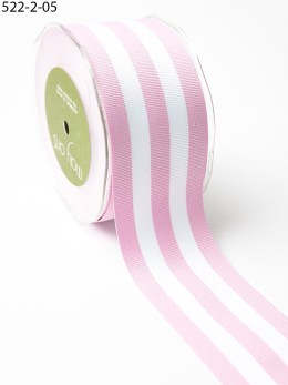 Lavender and white striped grosgrain ribbon