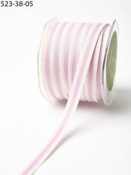 Orchid and Ivory Cotton Ribbon
