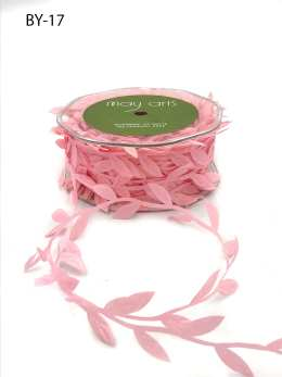light pink leaf ribbon