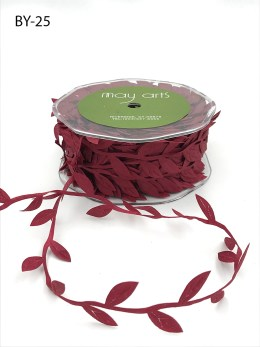 burgundy leaves ribbon