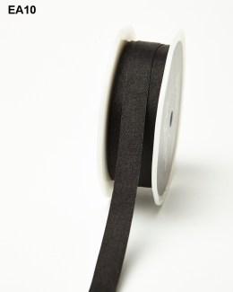 Black Solid Wrinkle Ribbon