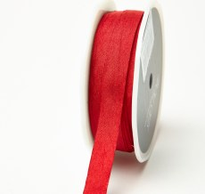 Red Solid Wrinkle Ribbon
