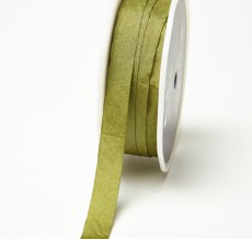 Olive Solid Wrinkle Ribbon