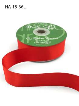 burnt orange double face satin ribbon