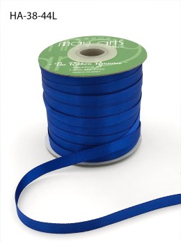 royal blue cobalt blue double face satin ribbon