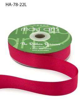 fuchsia pink doubel face satin ribbon