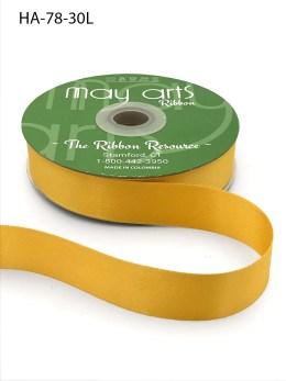 vegas gold yellow gold double face satin ribbon