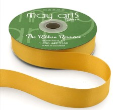 vegas gold yellow gold double face satin ribbon
