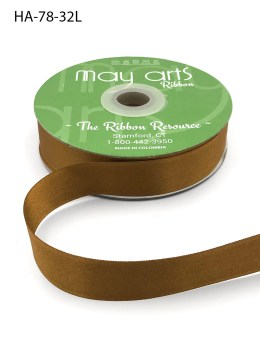 brass gold double face satin ribbon