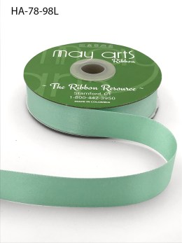 mint green double face satin ribbon