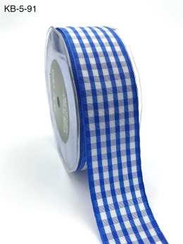 perwinkle checkered gingham ribbon