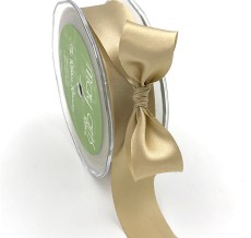 champagne single face satin ribbon