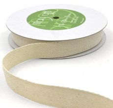 ivory natural twill cotton ribbon