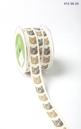 BLACK/BROWN CAT Ivory Canvas w/ Print Ribbon