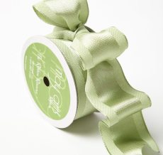 Celery Solid With Woven Center (Wired) Ribbon