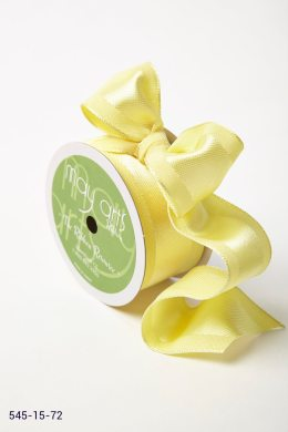 Lemon Solid With Woven Center (Wired) Ribbon
