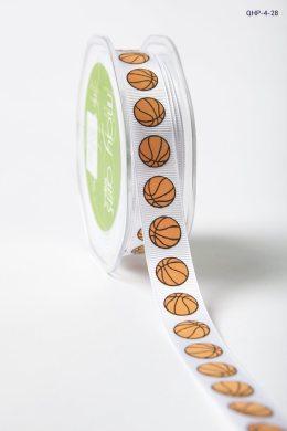 basketballs *2 colors Grosgrain w/ Print Ribbon