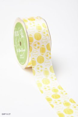Yellow Grosgrain w/ Print Ribbon