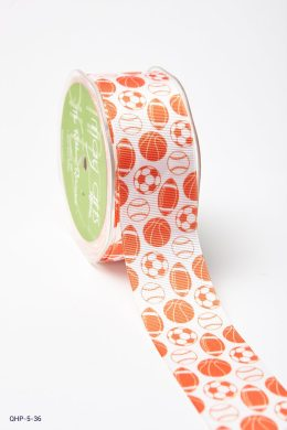 Burnt Orange Grosgrain w/ Print Ribbon
