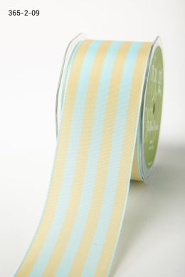 French Blue/Ivory Solid/Stripes Ribbon