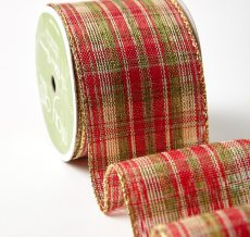 "2.5"" 583H-25-14 RED/GREEN/GOLD PLAID"