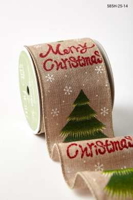 """2.5"""" 585H-25-14 RED/GREEN/WHITE MERRY CHRISTMAS"""
