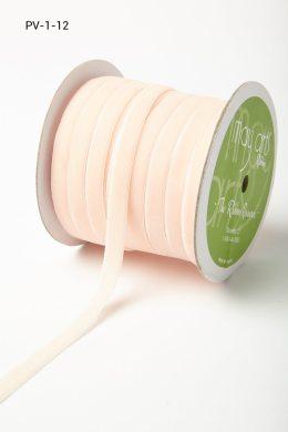 Nude Velvet/Woven Ribbon