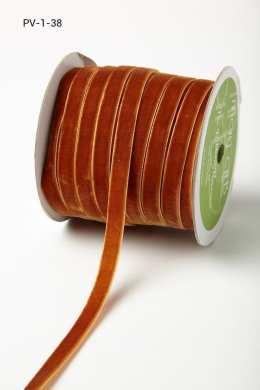 Burnt Orange Velvet/Woven Ribbon