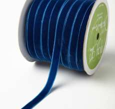 Royal Blue Velvet/Woven Ribbon