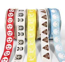 Emoji Printed Grosgrain Ribbons