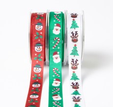 Christmas printed grosgrain ribbon