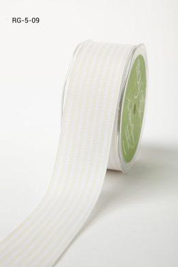 Ivory/White Grosgrain Striped Ribbon