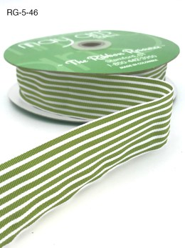 celery green and white striped grosgrain ribbon