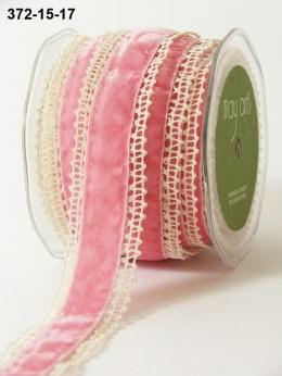 Variation #154442 of 1.5 Inch Crochet / Velvet Center Ribbon