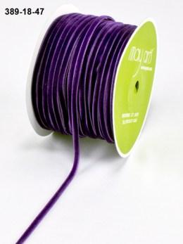 purple velvet string cord