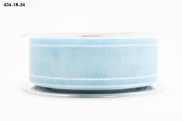 Variation #155149 of 1.5 Inch Sheer / White Stitched Edge Ribbon