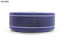 Variation #155140 of 1.5 Inch Sheer / White Stitched Edge Ribbon