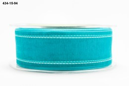 Variation #155151 of 1.5 Inch Sheer / White Stitched Edge Ribbon