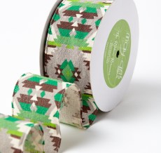 Green Southwestern Graphic Pattern Ribbon