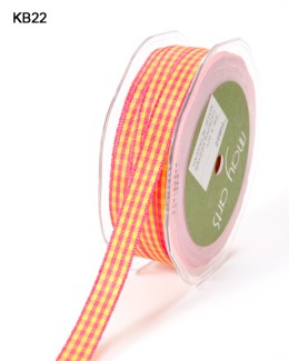 Variation #151026 of 3/8 Inch Solid Checkered Ribbon