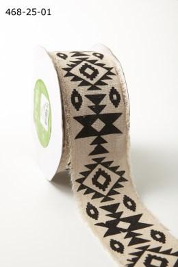 aztec geometric print cotton ribbon