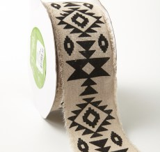aztec geometric print cotton ribbon