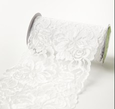 "5.5"" wide White Lace Ribbon"